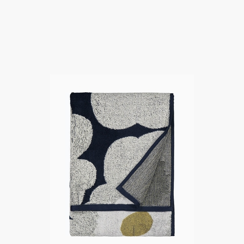Marimekko Unikko Hand Towel, Navy/Light Grey - Set of 2