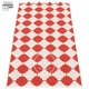 Pappelina Marre Plastic Rug - Coral Red/Vanilla, 2 1/4' x 7 1/2'
