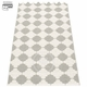 Marre Plastic Rug - Warm Grey/Vanilla, 2 1/4' x 9 1/4'