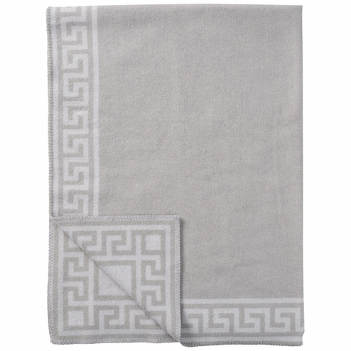 Meander Merino & Lambs Wool Blanket, Grey