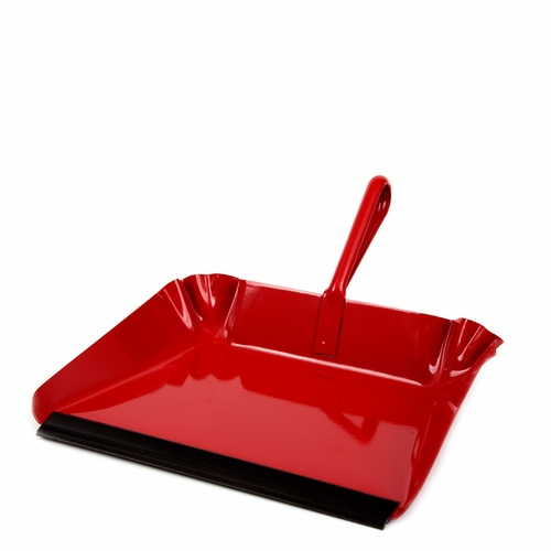 Metal Dustpan, Red