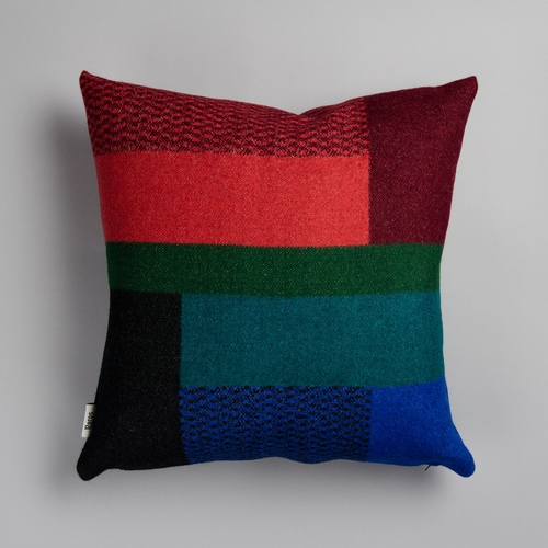 "Roros Tweed Mikkel Wool Cushion, Dark - 20"" x 20"""