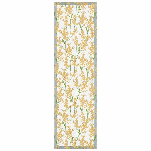Ekelund Weavers Mimosa Table Runner, 14 x 47 inches
