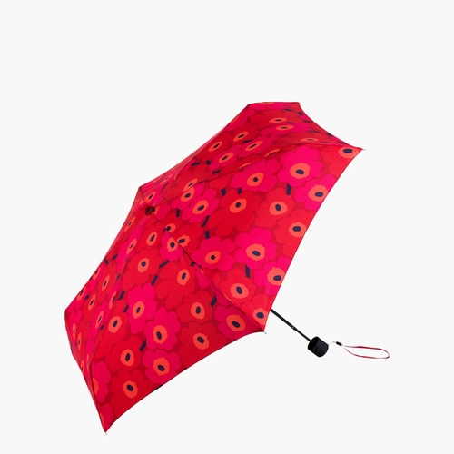 Mini Unikko Mini Manual Umbrella, Red/Dark Red