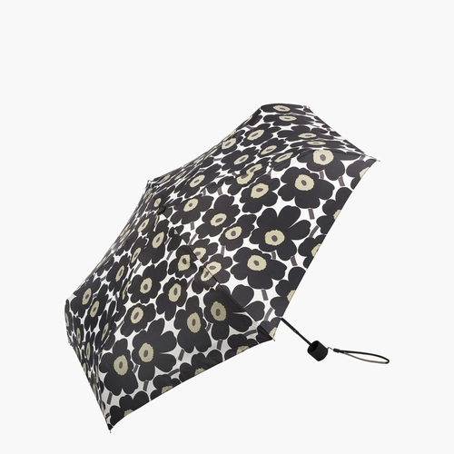 Marimekko Mini Unikko Mini Manual Umbrella, White/Black/Olive
