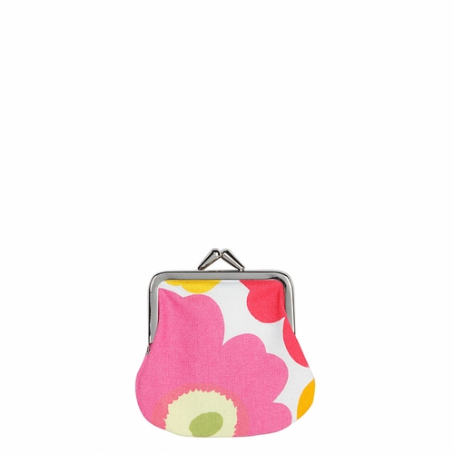 Marimekko Mini Unikko Mini Purse, White/Orange/Red