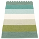 Pappelina Molly Plastic Rug - Forest, 2 1/4' x 13 1/4'