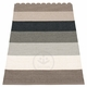 Pappelina Molly Plastic Rug - Mud, 2 1/4' x 6 1/2'