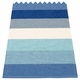 Pappelina Molly Plastic Rug - Sky, 2 1/4' x 9 3/4'