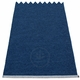 Mono Plastic Rug - Dark Blue/Denim, 2' x 2 3/4'