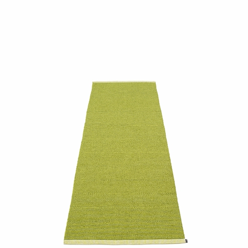 Pappelina Mono Plastic Rug - Olive/Lime, 2 1/4' x 6 1/2'