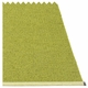 Mono Plastic Rug - Olive/Lime, 4 1/2' x 6 1/2'