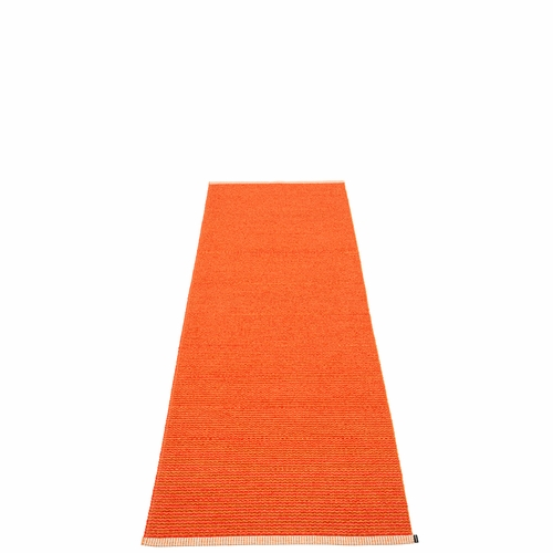 Pappelina Mono Plastic Rug - Pale Orange/Coral Red, 2 1/4' x 6 1/2'