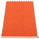 Pappelina Mono Plastic Rug - Pale Orange/Coral Red, 2' x 2 3/4'