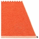 Mono Plastic Rug - Pale Orange/Coral Red, 4 1/2' x 6 1/2'