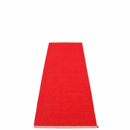 Pappelina Mono Plastic Rug - Red/Coral Red, 2 1/4' x 6 1/2'