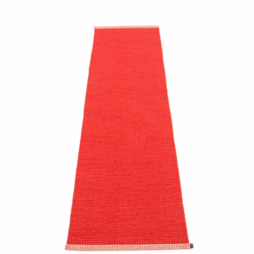 Mono Plastic Rug - Red/Coral Red, 2 1/4' x 9 3/4'