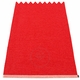 Pappelina Mono Plastic Rug - Red/Coral Red, 2' x 5'
