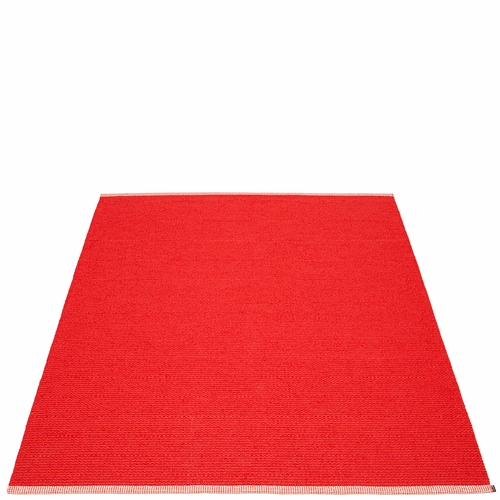Mono Plastic Rug - Red/Coral Red, 7 1/2' x 10 1/2'