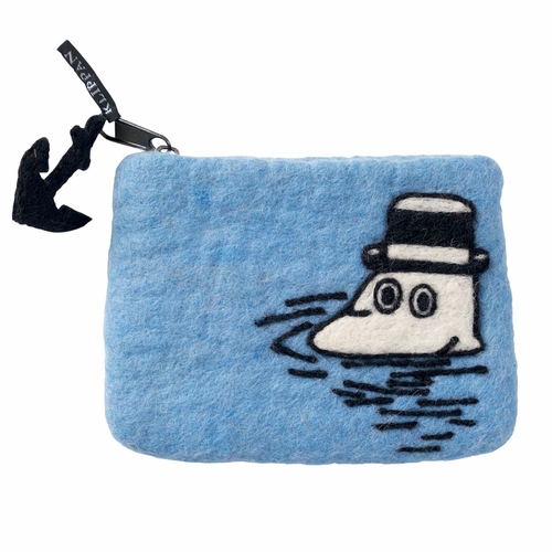 Klippan Moomin at Sea Felted Wool Purse
