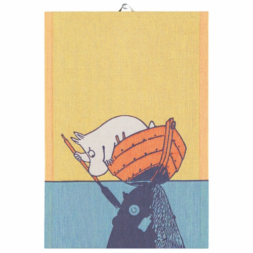 Moomin & Boat Tea Towel, 14 x 20 inches