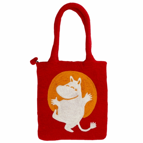 Moomin Felted Wool Bag, Red