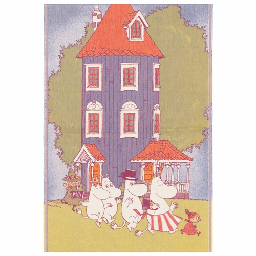 Ekelund Weavers Moomin House Baby Blanket, 28 x 41 inches