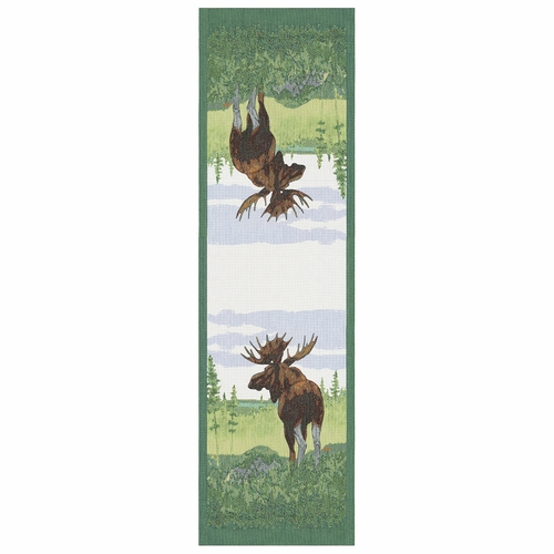 Moose Table Runner, 14 x 47 inches