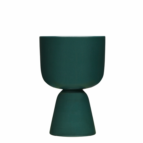 "Nappula Plant Pot 9"" x 6"", Dark Green"