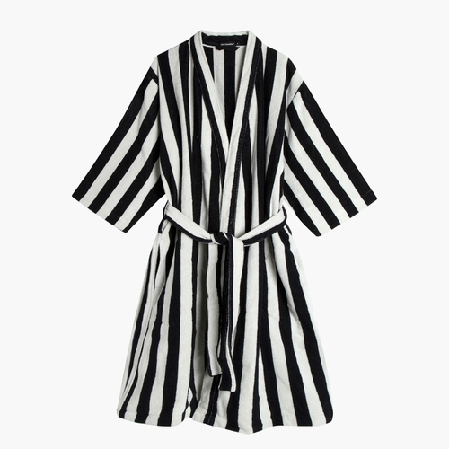 Nimikko Bathrobe, Off-White/Black - Medium