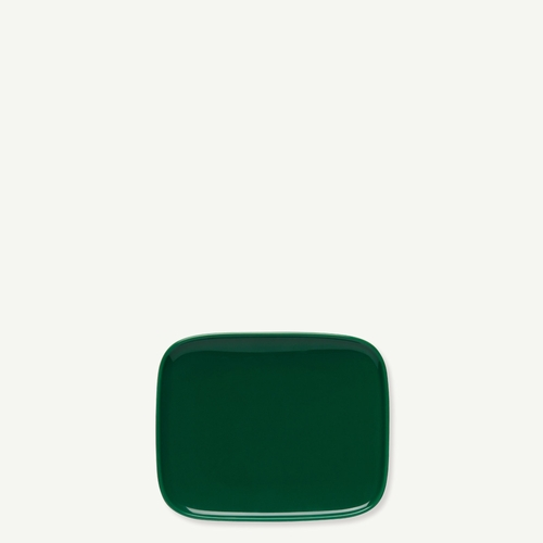 Oiva Rectangle Plate, Green