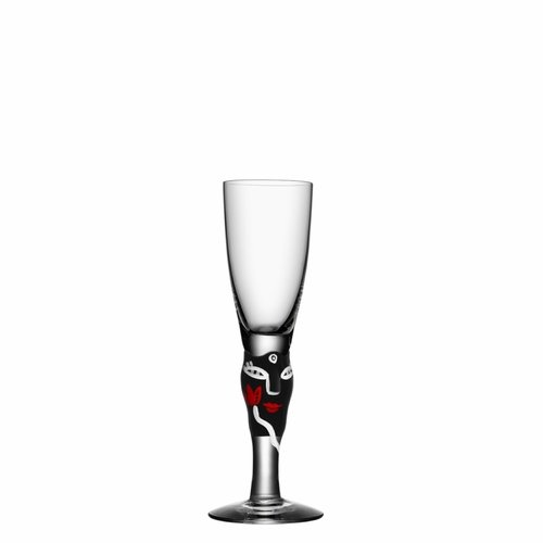Kosta Boda Open Minds Shot Glass - Black
