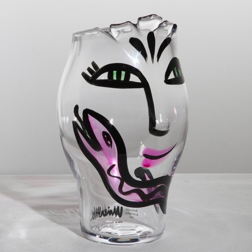 Open Minds Vase - Clear/Pink