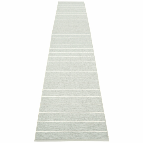 Pappelina Carl Plastic Rug - Sage/Seagrass, 2 1/4 x 14 3/4 Feet