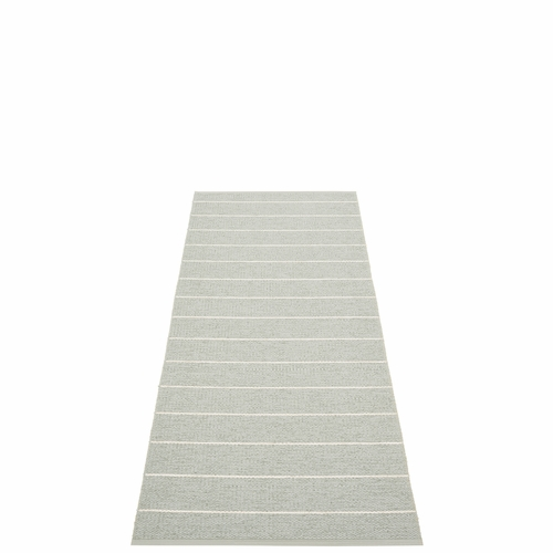 Pappelina Carl Plastic Rug - Sage/Seagrass, 2 1/4 x 6 Feet