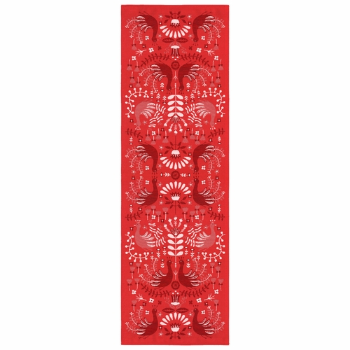 Peacock Table Runner, 14 x 47 inches