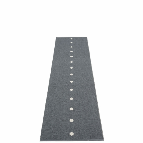 Pappelina Peg Plastic Rug - Granit/Fossil Grey, 2 1/4' x 9'