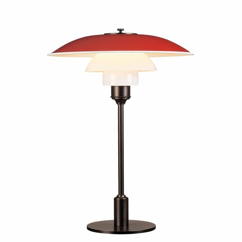 Louis Poulsen PH 3.5-2.5 Table Lamp, Red