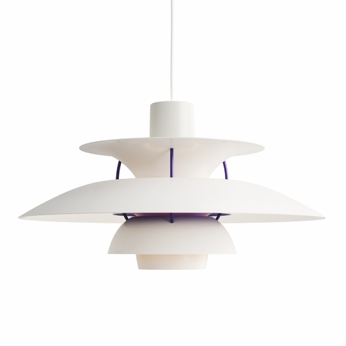Louis Poulsen PH 5 Pendant Light, Classic White, Matte