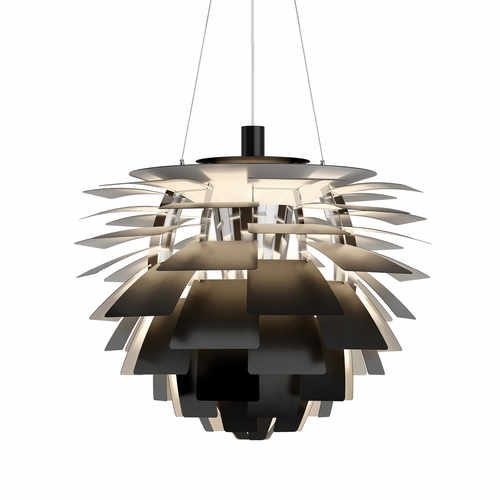 Louis Poulsen PH Artichoke Pendant Light, Black, 28.3""
