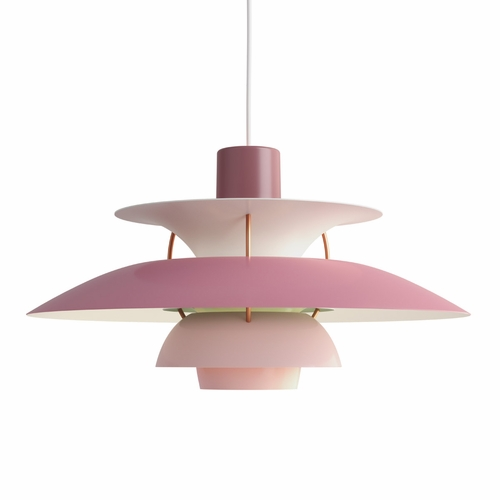 Louis Poulsen PH 5 Pendant Light, Hues of Rose