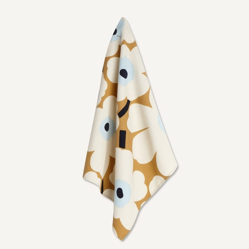 "Pieni Unikko Tea Towel, Beige/Off-White/Blue, 18"" x 20"""