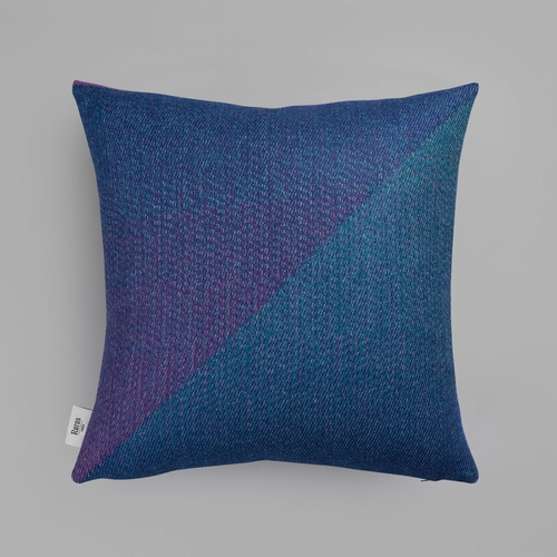 "Roros Tweed Portor Wool Cushion, Purple - 20"" x 20"""