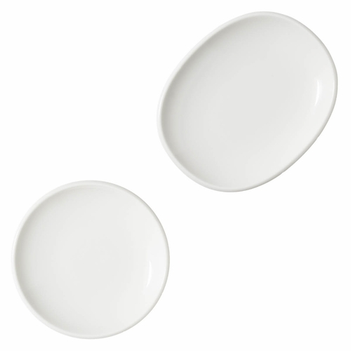 Raami Small Plate, White - Set of 2