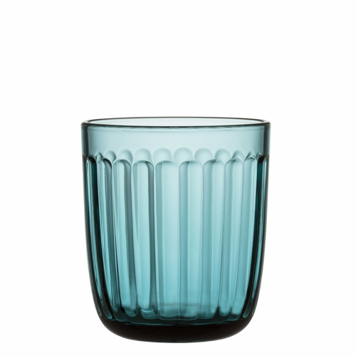 Iittala Raami Tumbler (8.75 oz) Sea Blue, Set of 2 - 2 LEFT