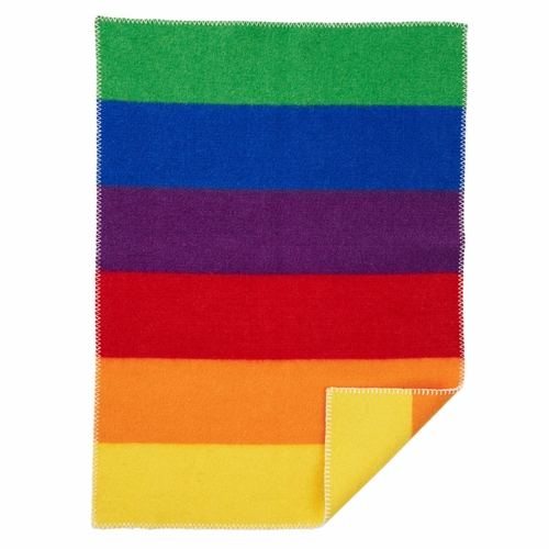 Klippan Rainbow ECO Lambs Wool Baby Blanket, Multi