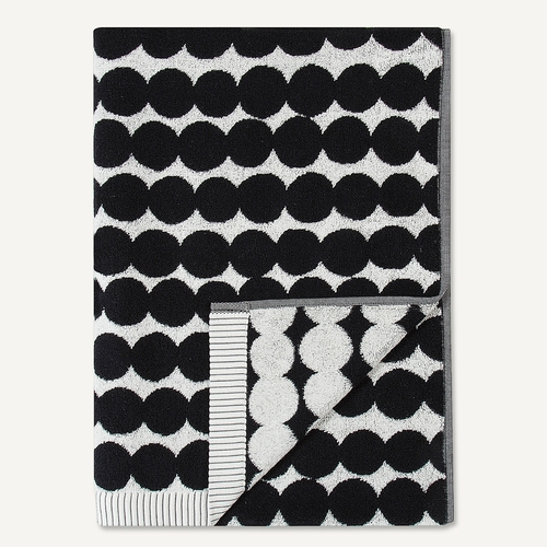 Marimekko Rasymatto Bath Towel, White/Black - Set of 2
