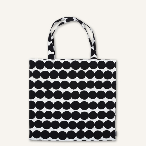 Marimekko Rasymatto Cotton Bag, White/Black