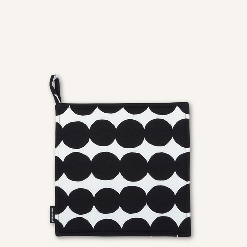 Rasymatto Pot Holder, White/Black