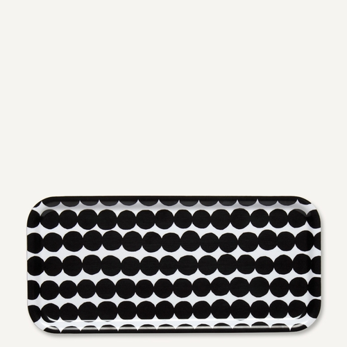 Rasymatto Rectangle Tray, White/Black
